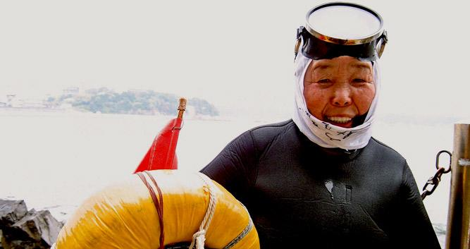 Old lady Ama diver - Ise - Luxury Japan Tours