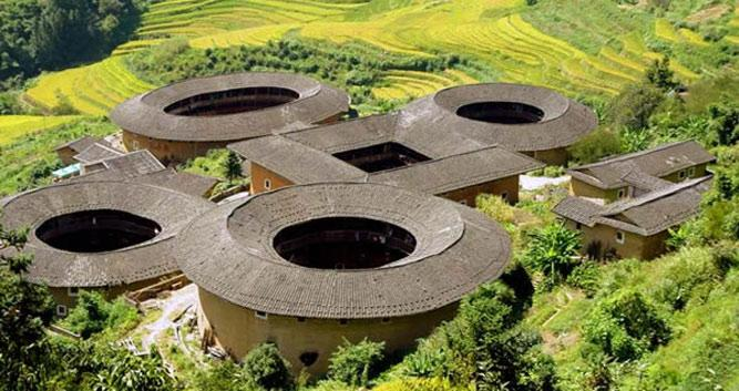 Hakka Tulou earth dwellings, near Xiamen in Luxury China Travel