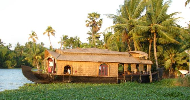 Traditional houseboat, Alleppey, Kerala, India