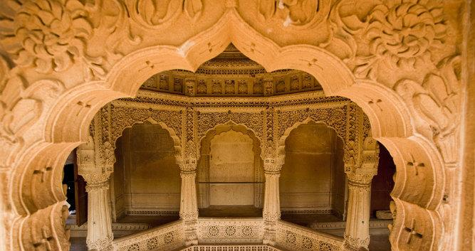 Jain Temple of Amar Sagar, near Jaisalmer, India