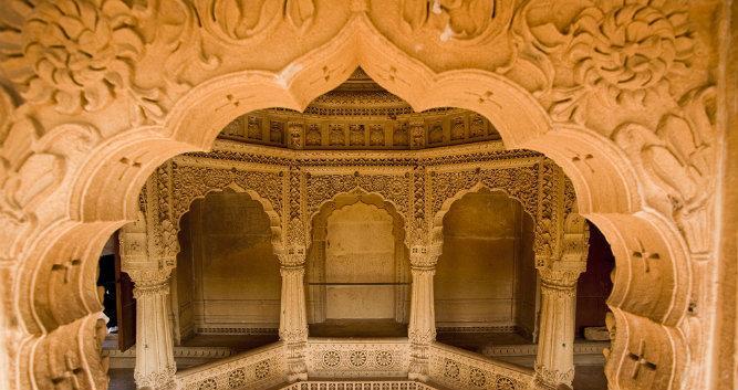 Jain Temple of Amar Sagar, near Jaisalmer, India