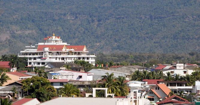 View of Pakse town, Laos