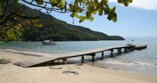 Isolated Bays in Ilha Grande, Brazil