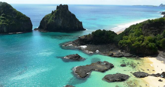 The pristine bays of Fernando de Noronha, Brazil