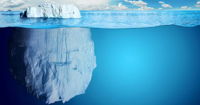 Tip of the iceberg, Antarctica