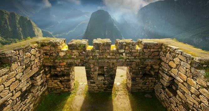 gate shot to Machu Picchu - Peru