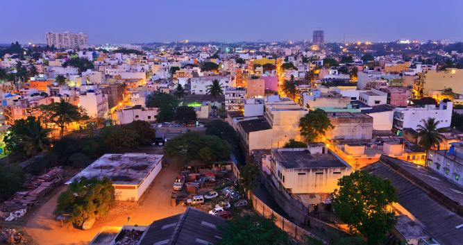 Bangalore city, at night, Bangalore, India