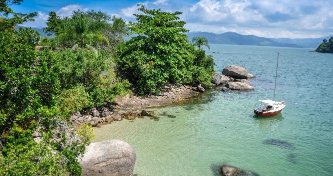 Tranquil Bays along the Green Coast, Paraty, Brazil