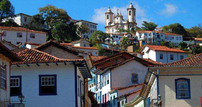 The town of Ouro Preto, Minas Gerais, Brazil