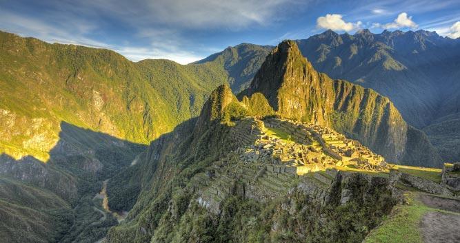 shadow over Machu Picchu, Peru