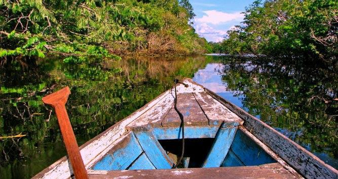 A boat rip into the Amazon, Brazil