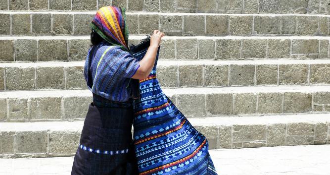 Traditional Mayan woman