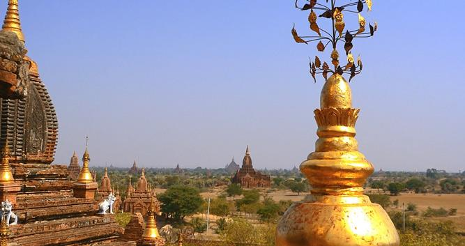 Golden temple top, Bagan, Burma