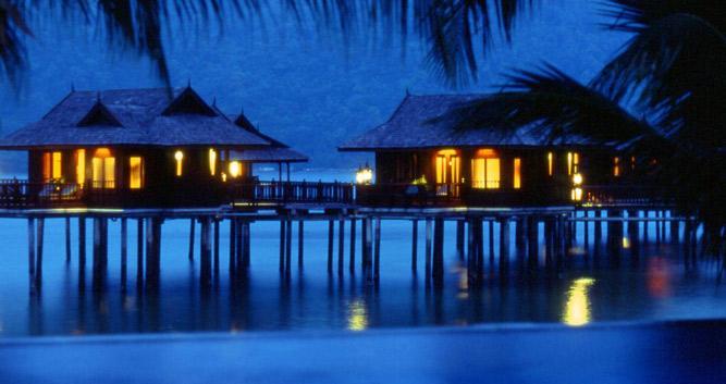 Overwater bungalows, Pangkor Laut, Malaysia