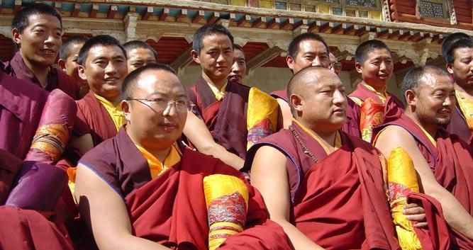 Image of Tibetan monks, Tibet, China - Luxury China Travel