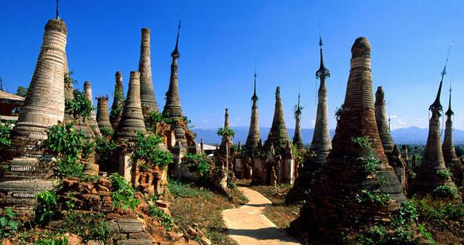 Pagodas, Kakku, Burma