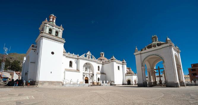Colonial church, Bolivia, South America