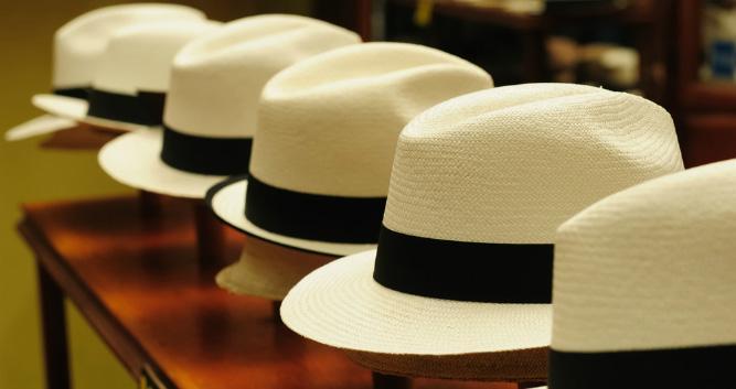 Panama hats - made in Ecuador
