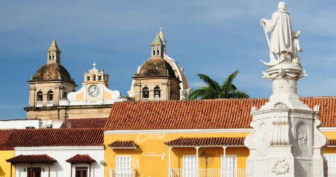 Colonial buildings in Cartagena, Colombia, South America