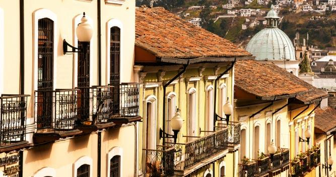 Colonial buildings, Quito, Ecuador