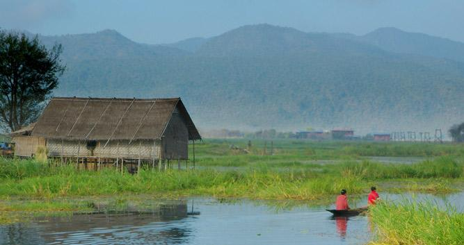 Local village, Inle Lake, Burma