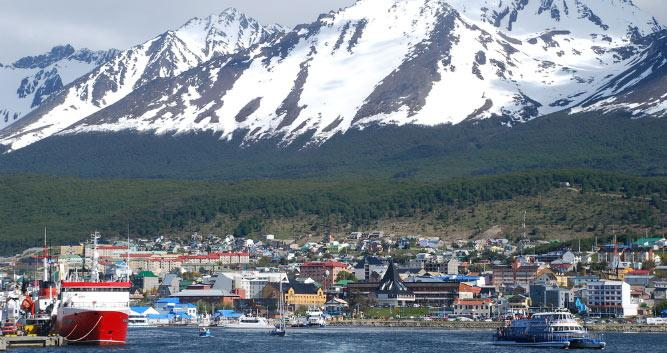 Ushuaia port, Argentina, South America