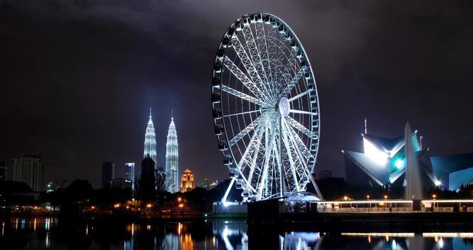 Ferris wheel at night, Kuala Lumpur, Malaysia