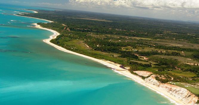A view along the coast, Trancoso, Brazil