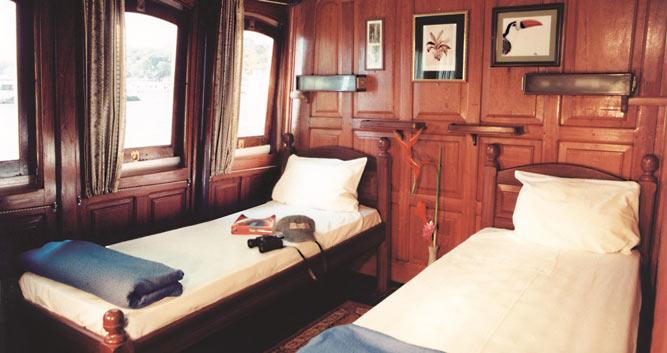 Cabins on the the MV Tucano, Amazon Rainforest, Brazil